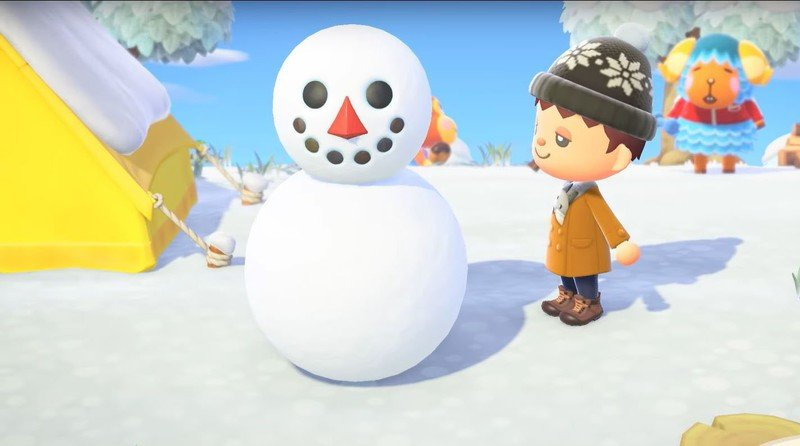 Very fun trick to make perfect snowmen in Animal Crossing New Horizons