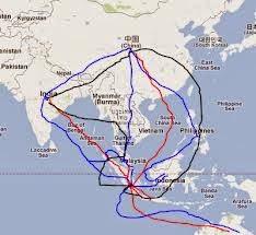 Peta Jalur Masuk Hindu Buddha