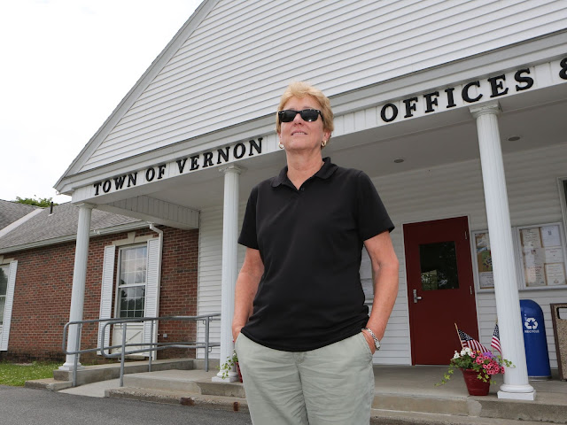 atty O'Donnell, chairwoman of the Vernon, Vermont, select board, had to drastically cut the town's budget in the wake of the closure of Vermont Yankee. Photo courtesy of LoHud.com.