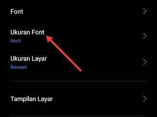 cara mengatur ukuran dan jenis font di HP