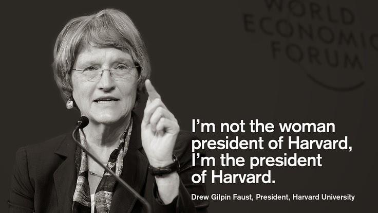 Biografi Drew Faust , Rektor Universitas Harvard