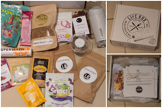 The contents of the May Life Box subscription as described in the text above