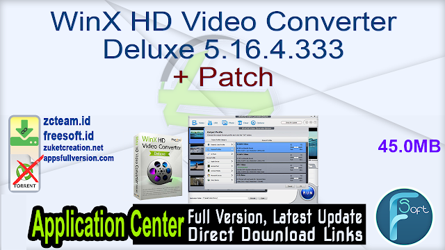 WinX HD Video Converter Deluxe 5.16.4.333 + Patch_ ZcTeam.id