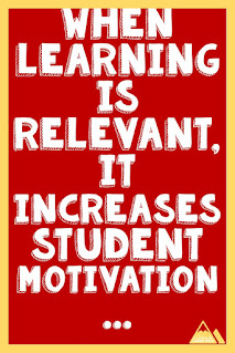 When learning is relevant, it increases student retention