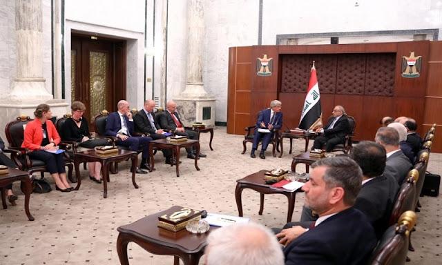 وفد اوربي يبحث في بغداد ملفي مكافحة الارهاب والتعامل مع معتقلي داعش