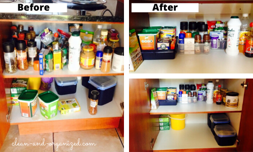 This DIY spice organization took me less than 30 minutes to put together.