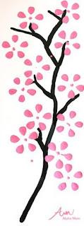 Tutorial cara membuat lukisan bunga sakura indah dengan botol bekas