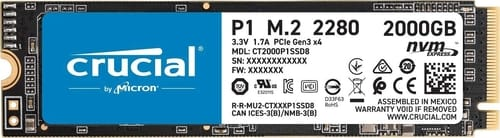 Review Crucial P1 2TB 3D NAND NVMe PCIe Internal SSD