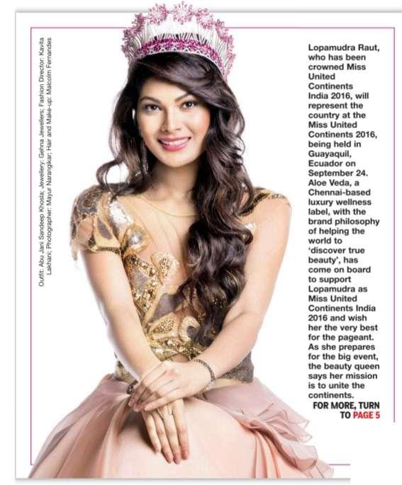 Lopamudra Raut miss united continents India 2016