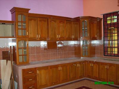 Kabinet Dapur Kayu Nyatoh