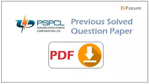 [PDF] PSPCL JE Previous Solved Paper