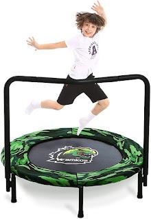 Mini dinosaur trampoline; dinosaur trampoline for kids 2021; Mini Trampoline with Handle; Toddler Rebounder Trampoline for Jump Sports; Jump sport for kids;