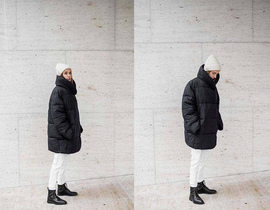 Musta toppatakki H&M // Black puffer coat H&M