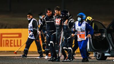 What happened to Romain Grosjean?