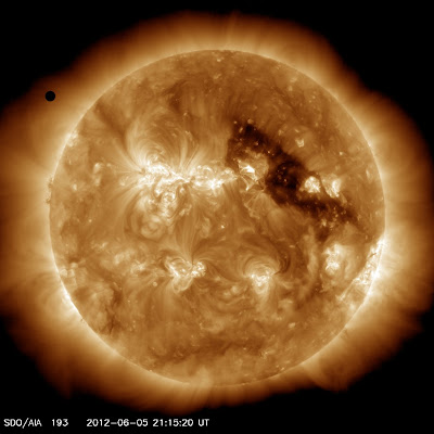 transit of venus from SDO AIA 193