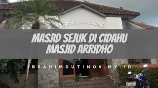Rehat Sejenak di Masjid Ar Ridho. Pasidoton Cidahu, Sukabumi.