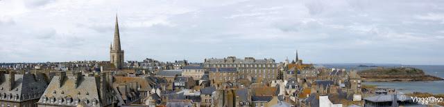 Vista panoramica di Saint Malo dalla terrazza del Castello