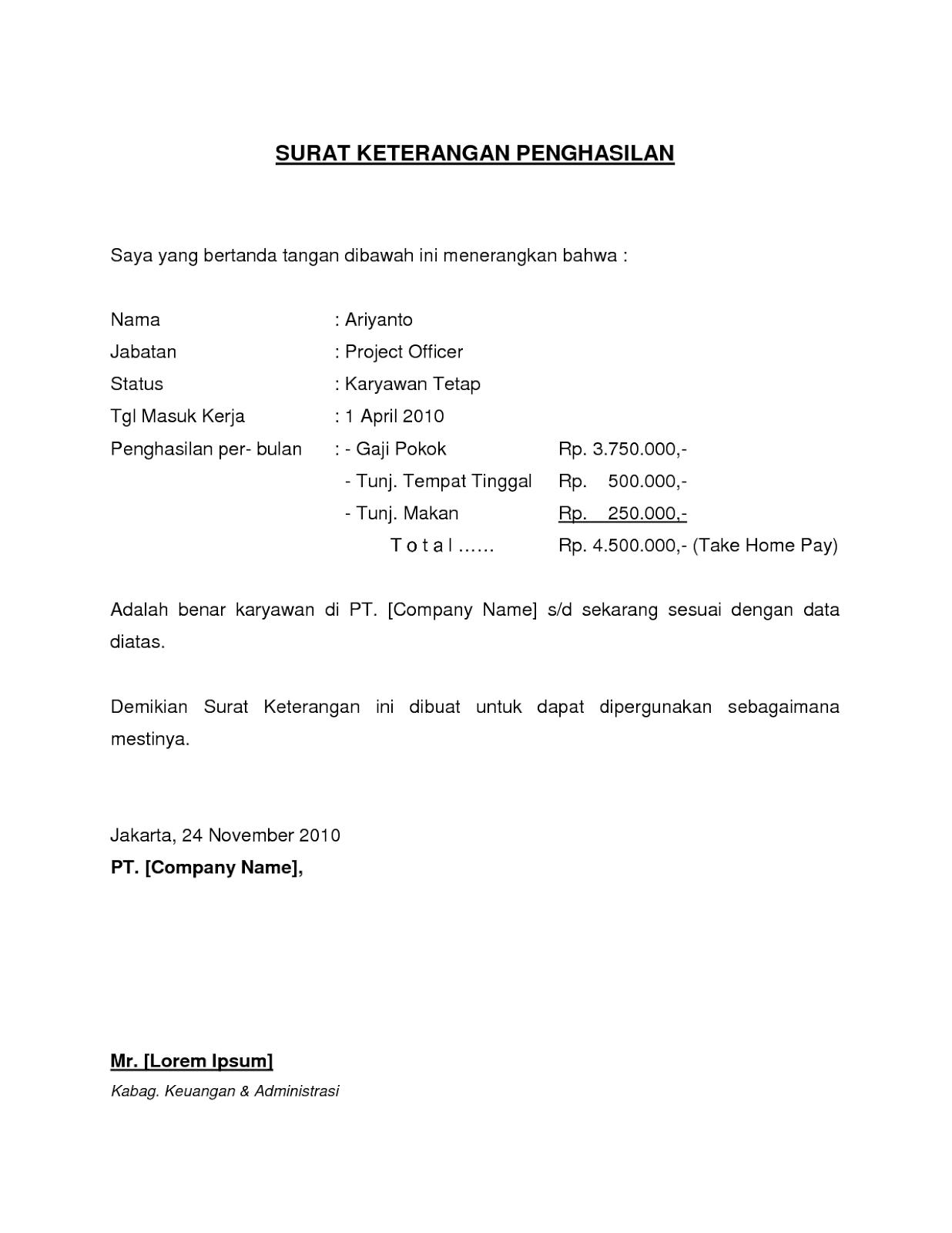 Contoh Surat Resign Yang Sederhana [[17]] - Contoh U