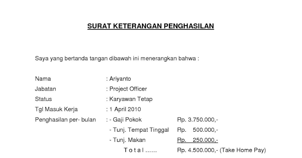 contoh slip gaji orang tua dari kelurahan seeker