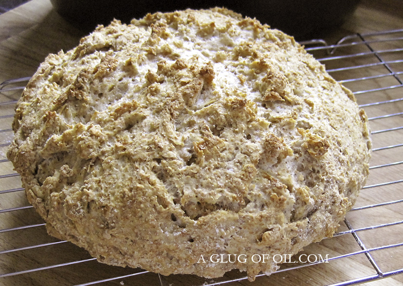 Soda bread out of the oven