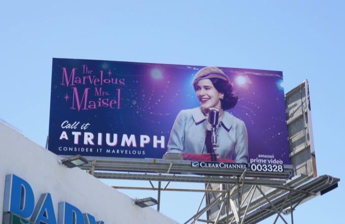 Mrs Maisel Triumph 2019 Emmy FYC billboard