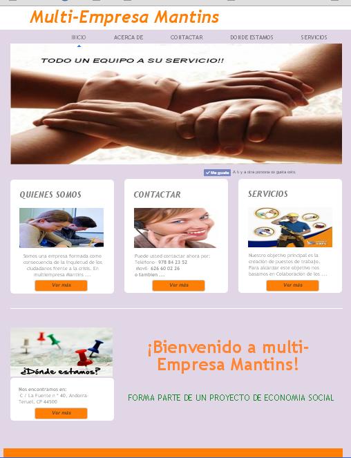 Diseño Web Informativa con tecnología CMS.