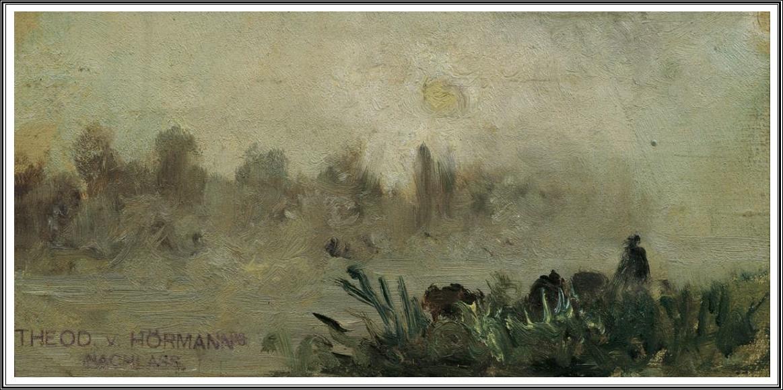 Theodor Von Hörmann (1840 1895), Morgennebel Mit Aufgehender Sonne   1890