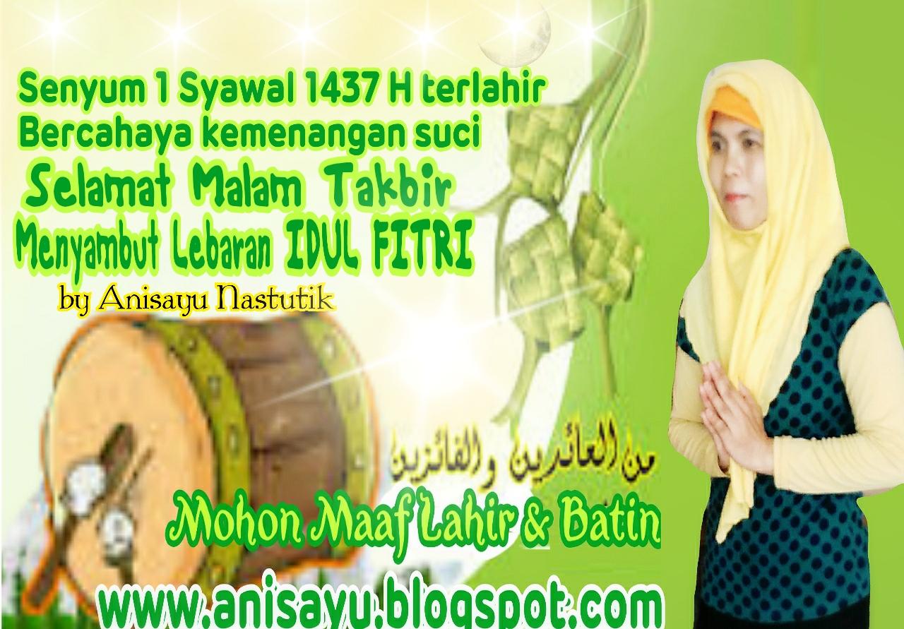 Pantun Lebaran Idul Fitri  M
