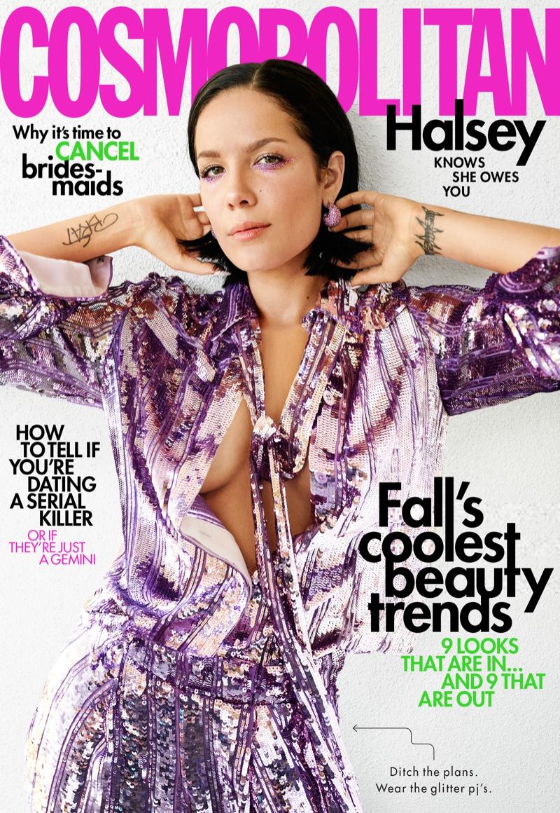 Cover Shoot: Halsey for Cosmopolitan October 2019