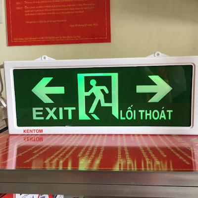 đèn exit thoát hiểm 2 mặt việt nam