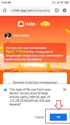 Download Aplikasi Hello Penghasil Uang Apk