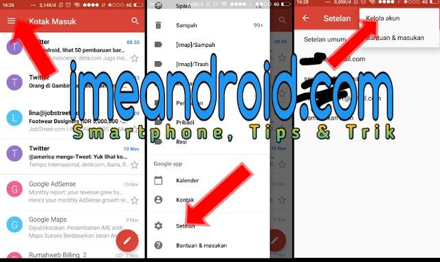 cara keluar akun gmail hp android