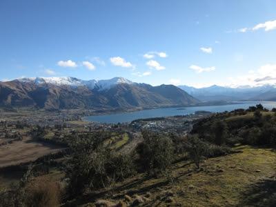 Vistas del lago Wanaka desde Iron Mountain, Nueva Zelanda