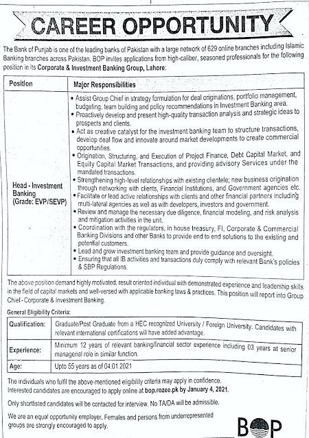 Punjab Bank Job