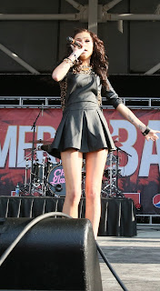 CHER LLOYD LEATHERED UP FOR THE B96 PEPSI SUMMER BASH