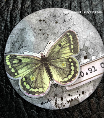 Sara Emily Barker https://sarascloset1.blogspot.com/2020/06/my-butterfly-collection.html Mixed Media AT Coins 6