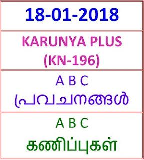 18 01 2018 A B C PREDICTION KARUNYA PLUS KN-196