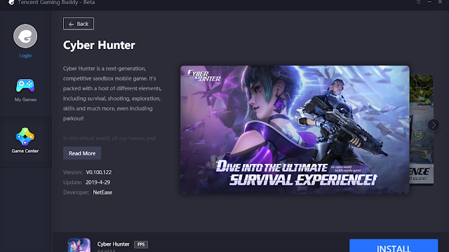 Cara Instal Official Cyber Hunter Tencent Gaming Buddy Emulator