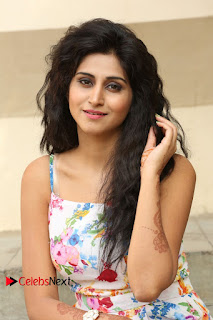 Actress Shamili Stills in Floral Short Dress at Sree Ramaraksha Song Launch 0102