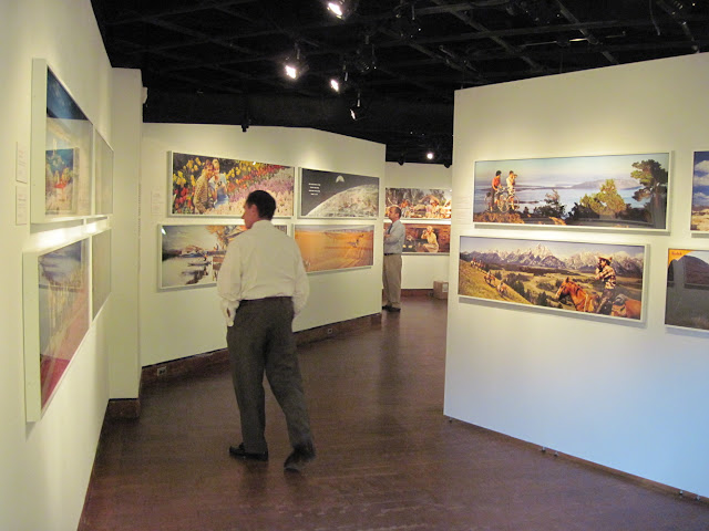 Visitors take a step back to Old New York to view this Colorama exhibit