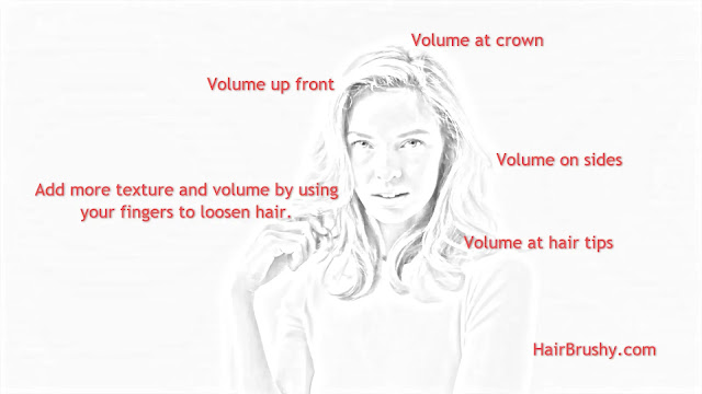 Add more texture and volume by using your fingers