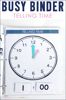 Telling Time Busy Binder Activity