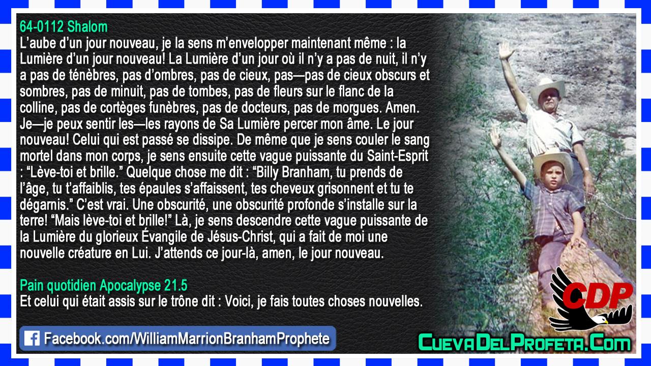 L'aube d'un jour nouveau - William Marrion Branham