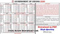 odia government calendar
