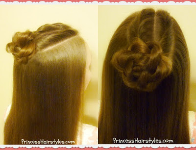 Double twist top knot hair tutorial