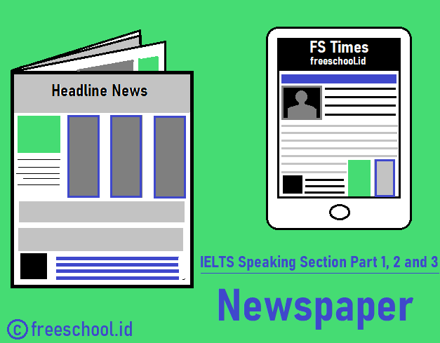 IELTS Speaking Part 1, 2 and 3 - Newspaper