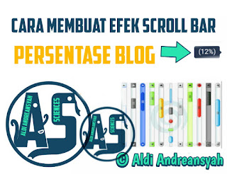 Scroll Bar Persentase Blog