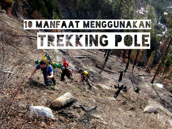 manfaat trekking pole dalam pendakian gunung