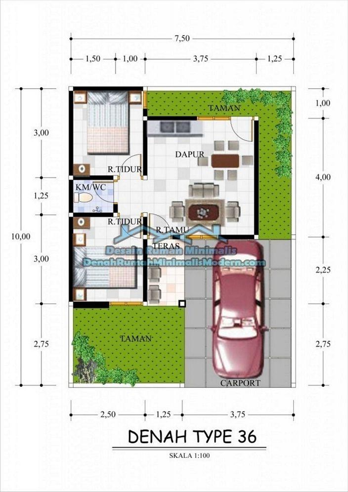 denah rumah minimalis type 36 yg terbaru