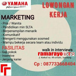 Loker Marketing Yamaha Bandung